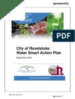 Water City of Revelstoke Water Smart Action Plan September 2013