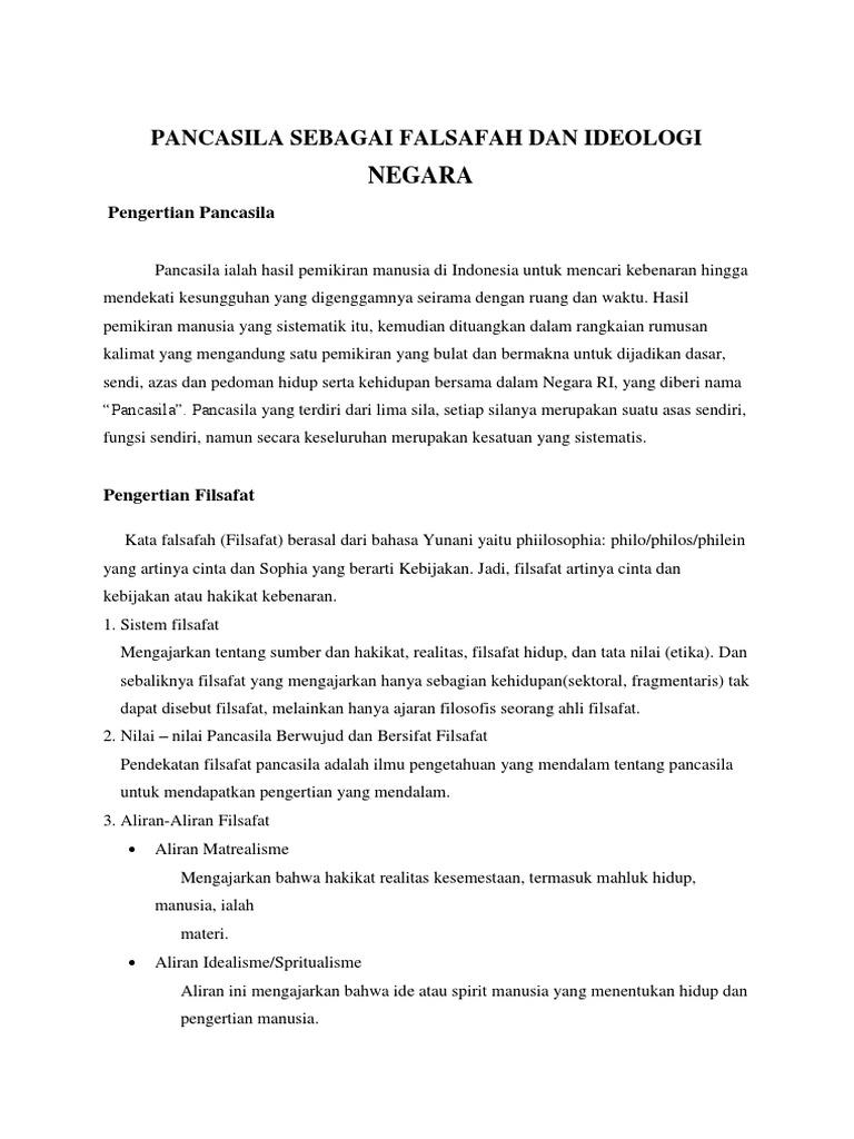 Contoh Makalah Pancasila Sebagai Falsafah Dan Ideologi Negara2 Docx