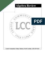 LCC Algebra Review