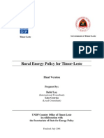 Rural Energy Policy for Timor-Leste (2008)