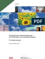 Energiepolitische Rahmenbedingungen für Strommärkte und erneuerbare Energien