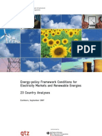 Energy-Policy Framework Conditions for Electricity Markets and Renewable Energies