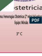Hemorragia Obstetrica Resumen Completo