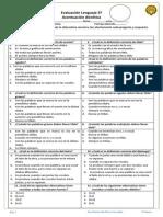 Evaluación Lenguaje 5º acentuación dierética.