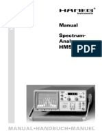 Analizador de Espectros HM 5011- Manual de Usuario