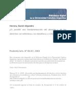 Herrera, Daniel Alejandro - Es posible una fundamentación del derecho y de los derechos sin referencia a la metafísica y a Dios