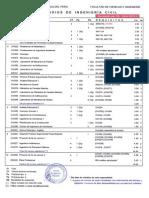 Plan de Estudios ING. CIVIL 2013 2