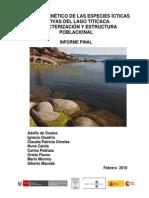 3.1. Estudio genético de las especies ícticas del lago Titicaca