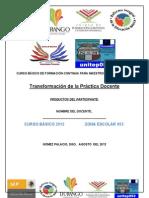 Formato Productos Docente Curso Basico 2012