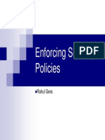 Policy Enforcing