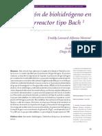 Hidrogeno en Biorreactor Bach