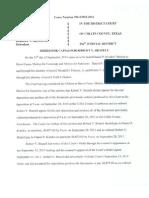Robert v Brazell Arrest Order