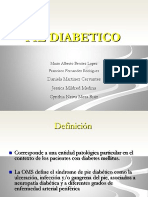diabetes pdf sobre gangrena folleto