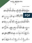 1925 Ponce; Manuel - Sonata Mexicana