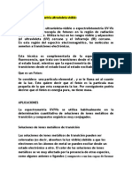 Tema 2.2 Espectrometria Ulgtravioleta Visible