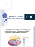 Anomalías causadas por factores ambientales