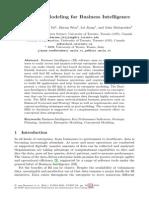 Data Model for Business Intelligence