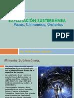 07 Presentacion N° 9 y 10 Explotación Subterránea Pozos, Chimeneas, Galerías   (A)