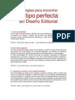 10 reglas CON REFRANES para encontrar tu TIPO perfecta en Diseño Editorial