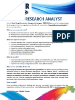 JOB AD-RBIMCO Research Analyst