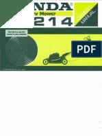 Manual Usuario Honda Rh214