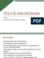 Politik Dan Ekonomi