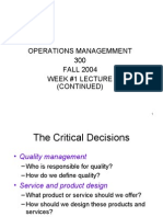 Slide Show Week #1 Lecture- MGT 300