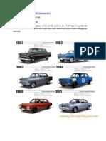 Rekabentuk Nissan Skyline 1957 Sehingga 2012