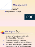 QM Objectives&Sixsigma
