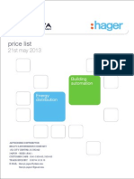 Hager Pricelist 21May2013 ,