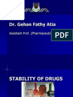 Stability of Drugs (1)