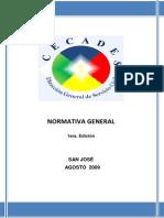 Normativa General Capacitacion 20096