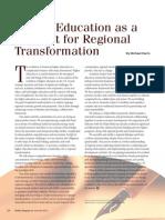 Chancellor Michael Harris, Higher Education as a Catalyst for Regional Transformation, AASCU, פרופסור וצ'נסלור מייקל הריס