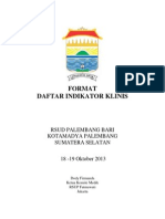 Dody Firmanda 2013 - Format Daftar Indikator Klinis Rumah Sakit