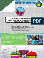 Planta Electrolitica Para Producir Polvos de Cobre