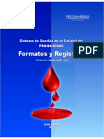 Formatos y Registros Pronahebas