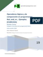 CU00132A Operadores Logicos o de Comparacion en Programacion Ejemplos