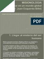 MISIONOLOGIA Dimension Antropologica