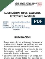 ILUMINACION, TIPOS, CALCULOS, EFECTOS EN.pptx