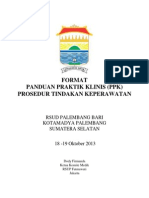 Dody Firmanda 2013 - Format Panduan Praktik Klinis Prosedur Tindakan Keperawatan