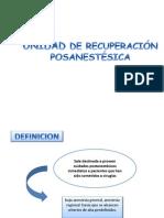 UNIDAD DE RECUPERACIÓN POSANESTÉSICA