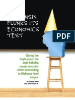 Wisconsin Flunks Economic Test