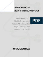 FARMACOLOGÍA NITAZOXANIDA y METRONIDAZOL. 2da semana