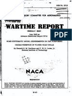 NACA ARR 3F12 Some Systematic Model Experiments on the Porpoising Characteristics of Flying-boat Hulls