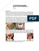 Tongue Lesions and Homoeopathy