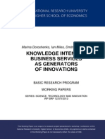 Knowledge Intensive Business Services as Generators of Innovations