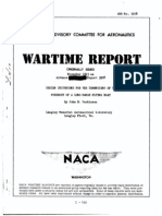 NACA ARR 3K08 Design Criterions for the Dimensions of the Forebody of a Long-range Flying Boat