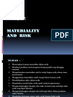 Materiality and Risk Arens Ch7