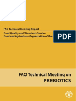 Prebiotics Tech Meeting Report