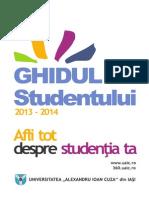 Ghidul Studentului  - Universitatea Alexandru Ioan Cuza din Iasi (2013-2014)